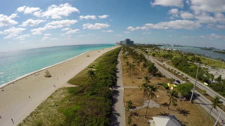 ave : Haulover Beach Collins Ave Miami Aerial South Stock Footage