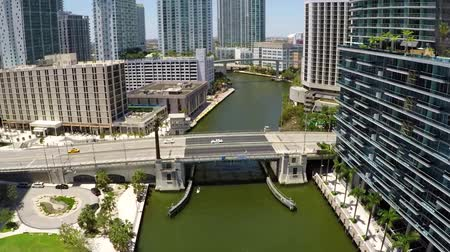 gedenksteen : Miami Brickell Ave Drawbridge Aerial Fly Over