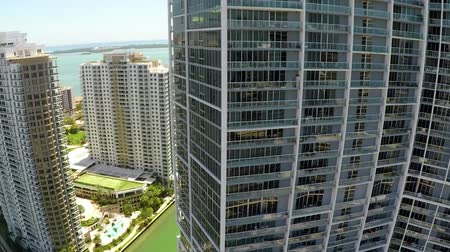 memorial day : Miami Brickell Key Aerial reveal