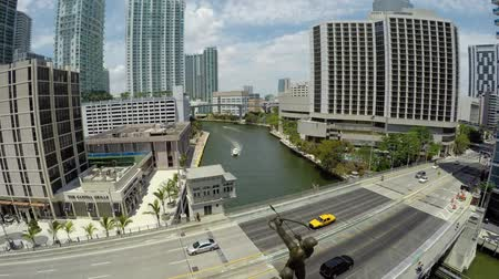 ave : Brickell Tequesta Statue Aerial  Fly past