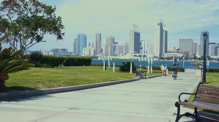 greater : 4K San Diego skyline view from Coronado Centennial park.