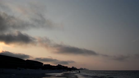 oceanos : timelapse on the ocean beach in florida at sunrise