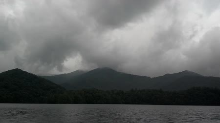спокойные сцены : lake santeetlah in great smoky mountains in summer