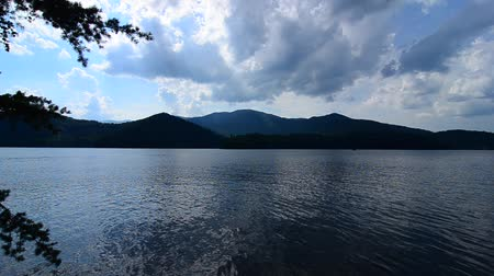 kano : lake santeetlah in great smoky mountains in summer