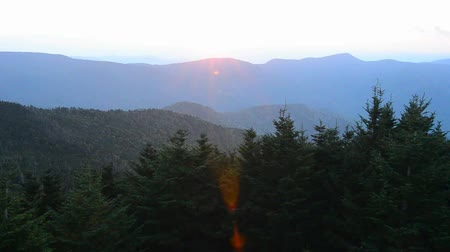 füstös : blue ridge mountains sunrise in the morning