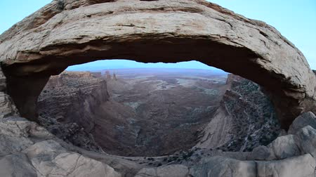 geological feature : mesa arch in canyonlands national park