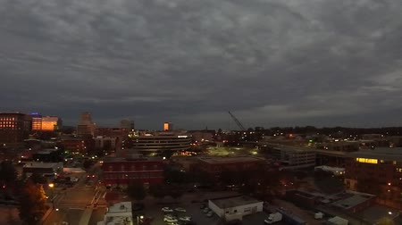 sc : sunset over greenville south carolina Stock Footage