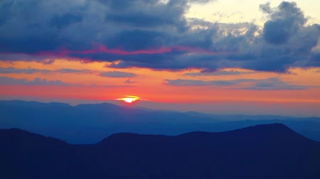 sunset landscape view from mount mitchell