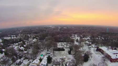 sc : snowy winter morning sunrise over york south carolina