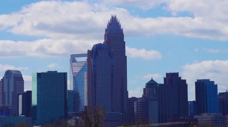 beautiful sunny day over charlotte nc