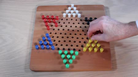 Opening moves of a Chinese Checkers game.