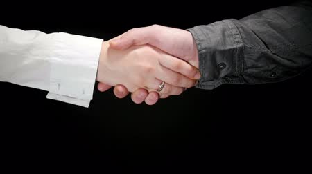 compromise : Business Greeting Handshake 4 Stock Footage
