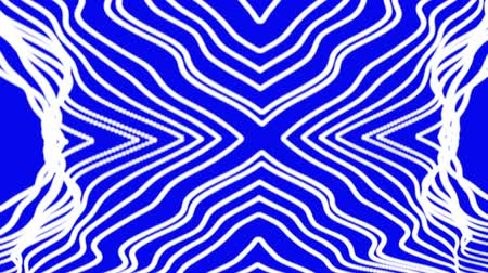 subterranean : Waving white lines on a blue background Stock Footage