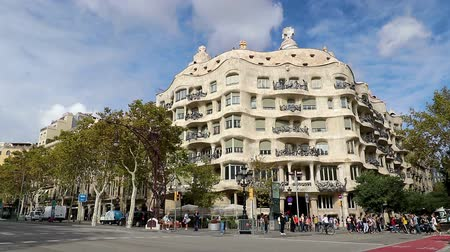 modernist : Casa Mila icon landmark Barcelona Spain decorative architecture symbol building , Barcelona, Spain, 15 October 2017