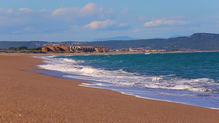 cimborák : Big waves in a sunny day in Pals, Costa Brava, Spain