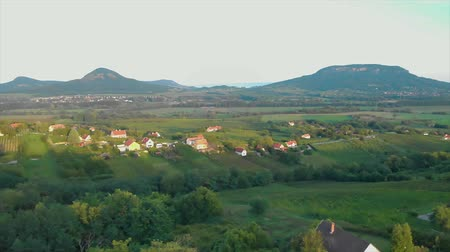 Scenery from a Hungarian landscape with volcanoes, near the lake Balaton