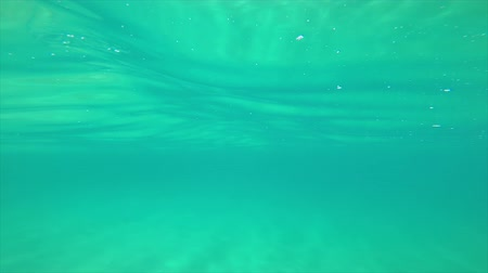 Transparent blue water footage in a Spanish ocean in Costa Brava