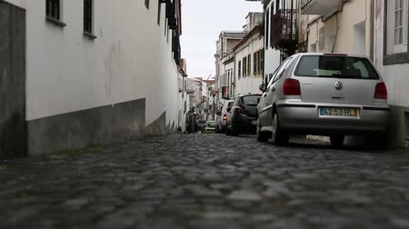 sao miguel : PONTA DELGADA AZORESPORTUGAL  JUNE 15 2015: One of the streets in the center of Ponta Delgada in the Azores Portugal.
