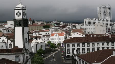 sao miguel : Top view of center Ponta Delgada, Azores, Portugal. HD