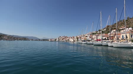 saronic : Along the coast of Poros island, Aegean Sea, Greece.
