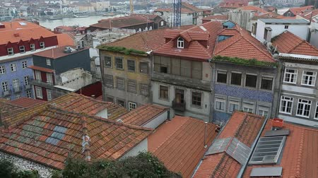 Top view of Porto old town, Portugal.