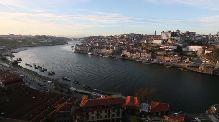 Porto, Portugal cityscape over the Douro River.