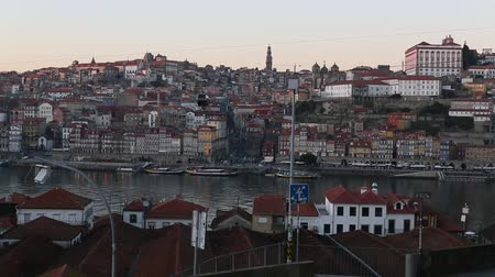 Douro river and Ribeira, Porto, Portugal.