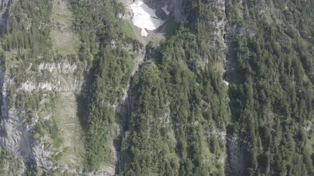 hegytömb : Aerial view of Klontalersee mountainous valley. Glarus Kanton, Switzerland.