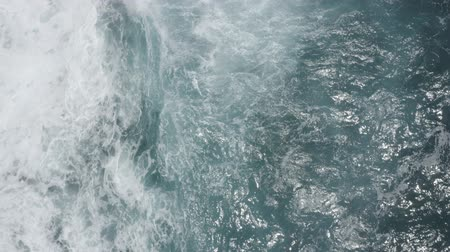 skalní útes : Aerial view of big waves foaming and splashing in sea, Sunny day. Island Bali, Indonesia. Indian ocean.