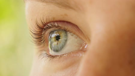 chirurgie : Beautiful Woman Eye. Close up. Macro.  HD, 1920x1080.