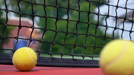 tennis stadium : Tennis Balls at the Tennis Court. HD, 1920x1080. Stock Footage