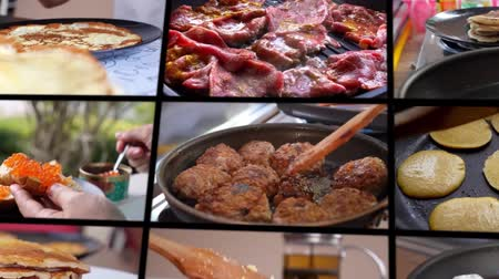 homeopático : Composition of Cooking Food - Montage Stock Footage