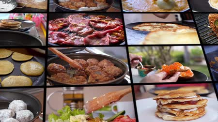 culinária : Collage Cooking Food at Home Vídeos