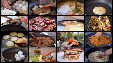 chef cooking : Montage Cooking Food Stock Footage