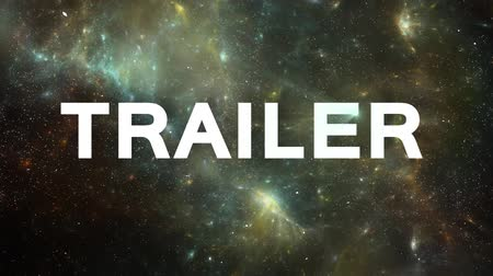 motivasyonel : Space Animation for Trailers. Exposion with Light UFO Effects Stok Video