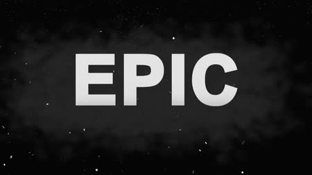 épico : Animation Epic  for Trailers. Powerful Titles with Effects on Black
