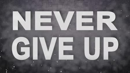 motivasyonel : Never Give UP. Motivational Intro . Animation Text. Inpired  Titles