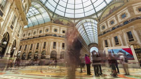 milan fashion : MILAN, ITALY - MAY 3: View of Galleria Vittorio Emanuele II. Most popular shopping areas in Milan.