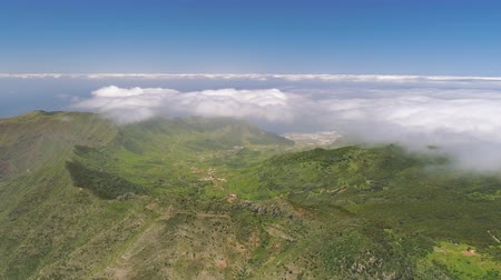 el teide : Aerial view of mountains from above on Tenerife near volcanic mountain El Teide