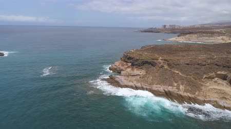 kanarya : Aerial view rocky coast of Atlantic ocean, Canary islands