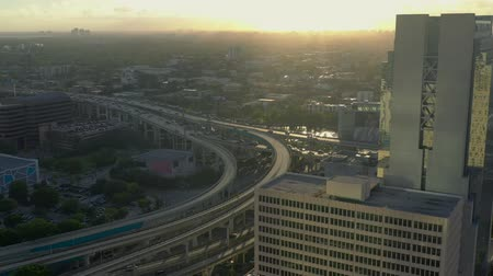 высотное : MIAMI, FLORIDA, USA - MAY 2019: Aerial drone view flight over Miami downtown. Hotels, business buildings from above.