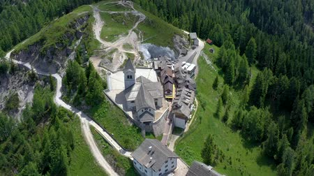 dolomite : Scenic view of the beautiful landscape in the Alps, picturesque nature of Italy, Tarvisio. Aerial drone panorama view.