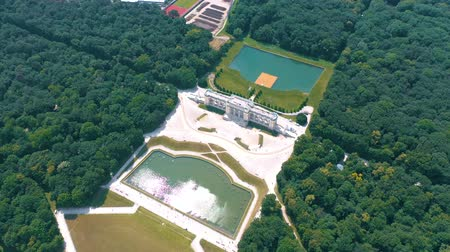monarchy : VIENNA, AUSTRIA, - JUNE 2019: Aerial view of Schonbrunn Palace, former imperial summer residence, tourist attraction.