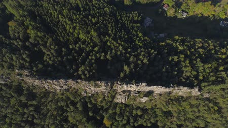 tcheco : Aerial drone view of a beautiful landscape of National Park Cesky Raj near Prague. Stock Footage