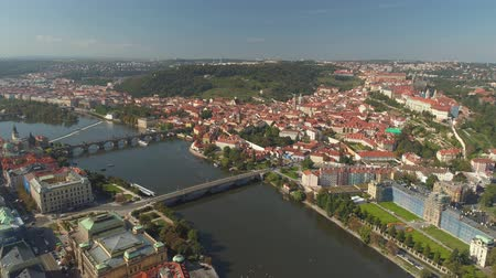 Чарльз : PRAGUE, CZECH REPUBLIC - MAY, 2019: Aerial pamorama drone view of the city centre, cityscape of Prague.