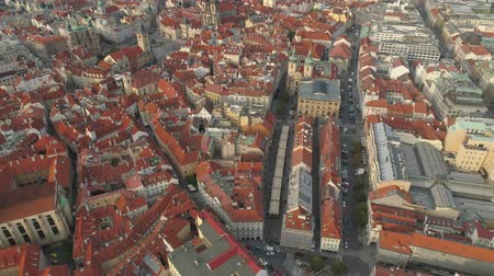 csehország : PRAGUE, CZECH REPUBLIC - MAY, 2019: Aerial pamorama drone view of the city centre, cityscape of Prague.