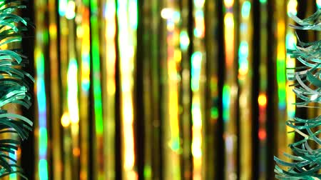 Magic abstract shiny background with colored defocused bokeh. Decorative scene for greeting messages or presentations. Festive mood. Christmas or holiday theme Stock mozgókép