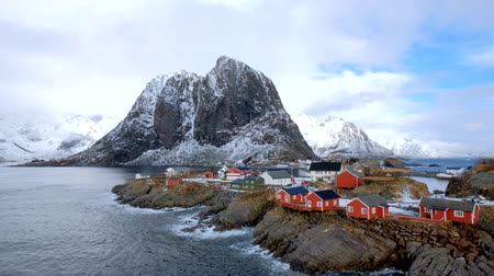 arktický : Hamnoy village on Lofoten Islands, Norway