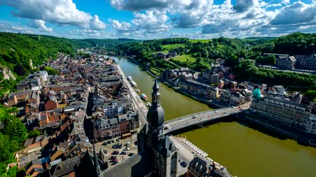 pont : Timelapse of Dinant town, Belgium Stock Footage