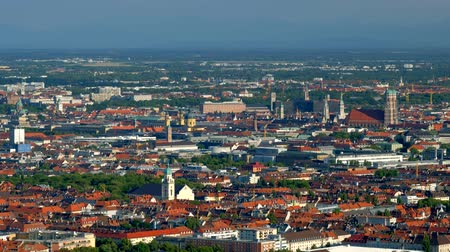 bajor : Aerial view of Munich. Munich, Bavaria, Germany Stock mozgókép